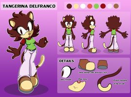 Tangerina ref sheet .:commission:. by Pendulonium