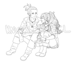 Elbou collab WIP lines by The-Odd-Fox