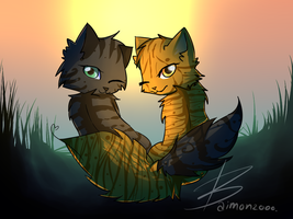 Mothwing and Willowshine by baimon2000