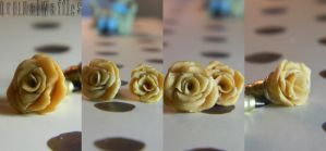 Mini Rose Studs by OrginalWaffles