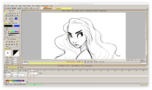 my first frame on tvpaint :D by claudiasketch