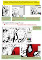 comic coloring tutorial prt1 by spidey0318