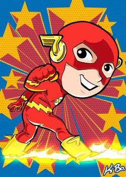 Super Powers The Flash Art Card by K-Bo. by kevinbolk
