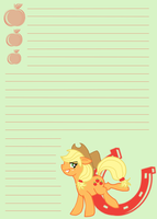 MLP: FiM Applejack Notepaper by Dekkii