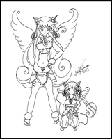 Mother and Daughter by bluebellangel19smj