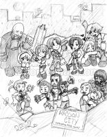RE2: Chibi Mess by I-heart-Link