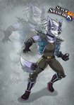 Wolf O'Donnell + Smash Bros by RatchetJak