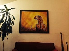 Tiger Painting Framed by AenTheArtist