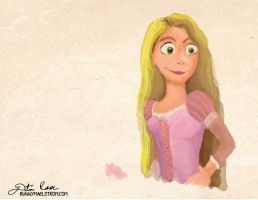 Speed painting - Rapunzel by thedustud