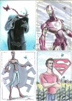 Superhero cards for Charity by Dantooine