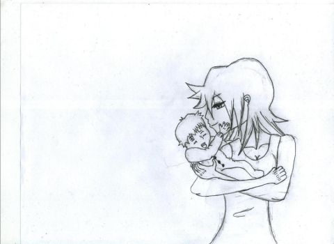 A Mother and son by raytion