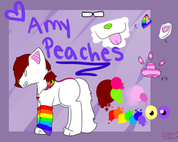 Amy Peaches Reference sheet 2012 by l3utts