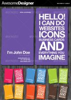 AwesomeDesigner Business Cards by ibRC