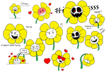 Flowey's expressions #1 by The-Angel-Deoden