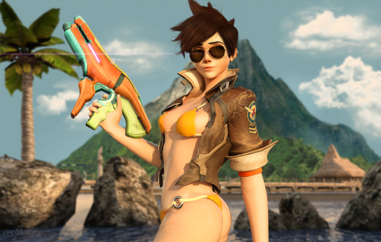 Tracer - Fun in the Sun by EvilPowny