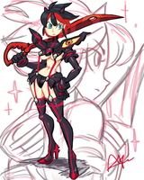 Matoi Ryuko by Dragonaer123