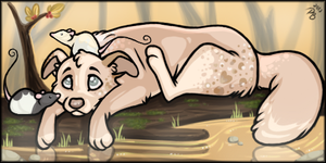 Dog on a Log by Paris-Blake