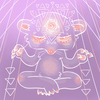 psychic rat dude by xooshi