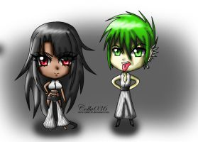 .:Commission:. Chibi Jayla and Welsch by colla036