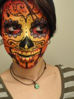 Firey Sugarskull Makeup by ClownShark