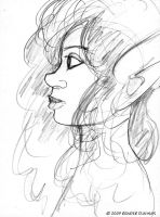 Neive, profile with curly hair by Reinder