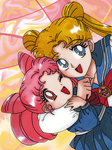 Serena and Rini by lostangels22