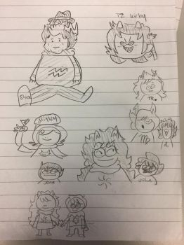 todays hs doodles 1 by Chiken-Nugets