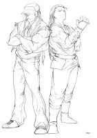 Terry and Andy_ Final Sketch by RamonFelinto