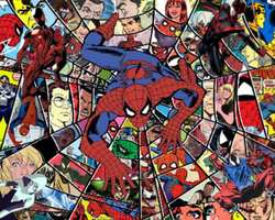 Spider-Man Collage by FreakyComics