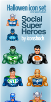 Halloween Icons social heroes by Iconshock