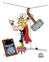 Thor at home by PacoAfroMonkey