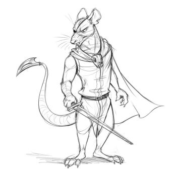 Cluny the Scourge Sketch (Redwall) by Temiree