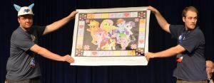 BronyCon 2013 - Auction - Mane 6 Poster by AleriaVilrath