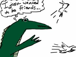 Sad Alligator is Sad by lennia2005