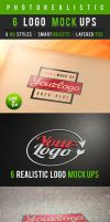 6 Photorealistic Logo Mock-Ups Vol.1 by Dee-A