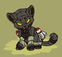 Ravage chibi by shibara-draws-mecha