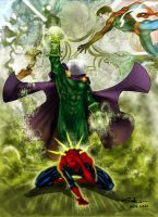 Mysterio vs Spidey - Alxelder by SpiderGuile