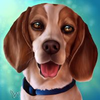 Toby the Beagle by Mythicalpalette