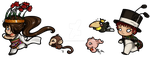 Project Z.E.R.O. chibi mascots by gryce-allergies