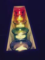 rainbow candles by ARAart