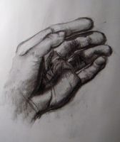 charcoal hand self by xensoldier