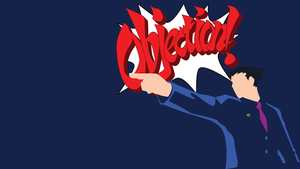 Phoenix Wright Minimalist Wallpaper v2 by Oldhat104