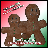 Gingerbread Man by Stock-by-Dana
