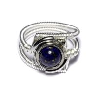 Cyberpunk Ring Lapis Lazuli by CatherinetteRings
