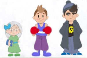 Mother4 cast sketches by FlintofMother3