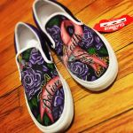 Breast Cancer Ribbon Custom Shoes by ShoeJunkiez
