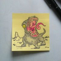 Post-It Creatures #1 by tanggod