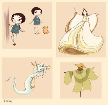 Character designs: Japanese Wizard of Oz by Kecky