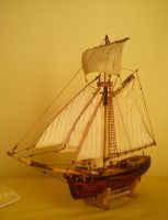 Model Sloop by Leogon