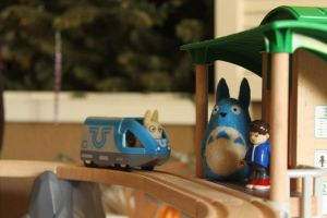 Totoro 3D felts At the station by thedanimator